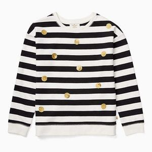 Kate Spade Girls Sequenced Dot Striped Sweater